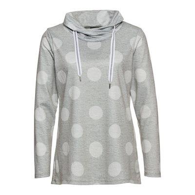 Damen-Shirt mit Kreis-Muster