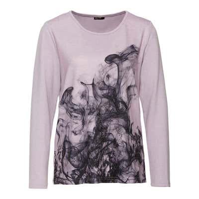 Damen-Sweatshirt mit Glitzersteinchen