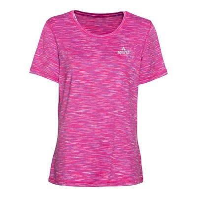 Damen-Fitness-T-Shirt mit schickem Logo