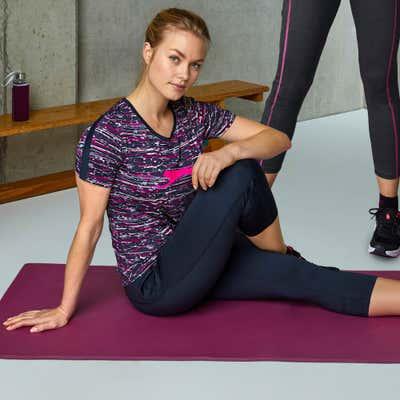 Damen-Fitnesshose in sportlicher Optik