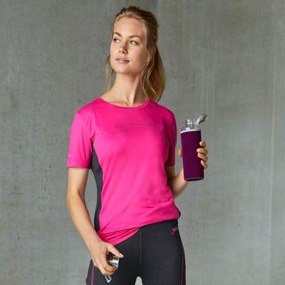 Damen-T-Shirt mit Kontraststreifen