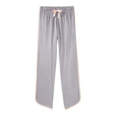 Damen-Schlafhose mit Kontrast-Streifen, Mix&Match