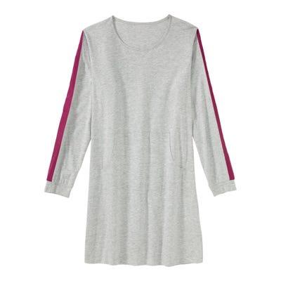 Damen-Nachthemd mit Kontrast-Streifen