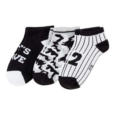 Jungen-Sneaker-Socken mit Camouflage-Muster, 3er Pack