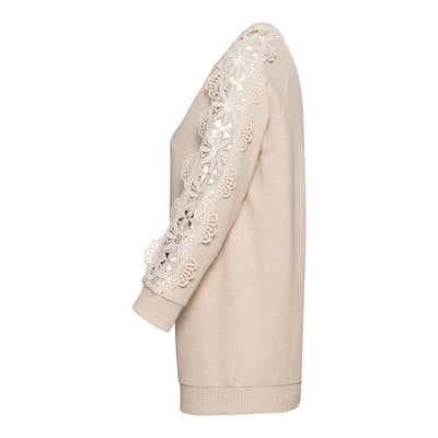 Damen-Sweatshirt mit Spitze an den Ärmeln