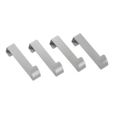 Türhaken aus stabilem Metall, ca. 10x2cm, 4er Pack