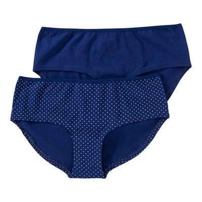 Damen-Panty mit Pünktchen-Muster, 2er Pack