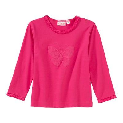 Baby-Mädchen-Shirt mit Schmetterlings-Applikation