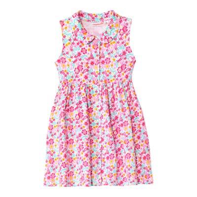 Baby-Mädchen-Kleid mit farbenfrohem Blumenmuster