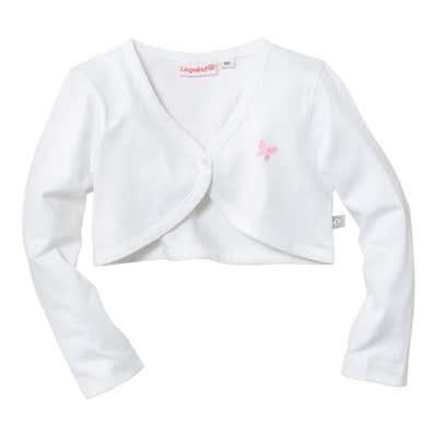 Baby-Mädchen-Bolero in vielseitigem Weiß