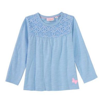 Baby-Mädchen-Shirt mit Spitzeneinsatz