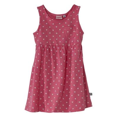 Baby-Mädchen-Kleid mit Herzchenmuster