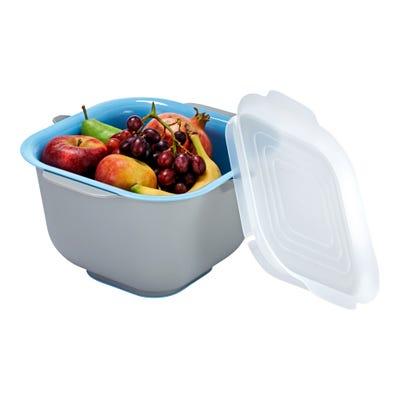 Obst-Frischeschüssel mit herausnehmbarem Einsatz, ca. 28x28x19