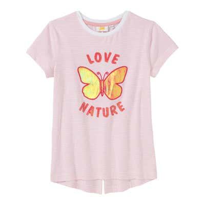 Mädchen-T-Shirt mit Ringelmuster