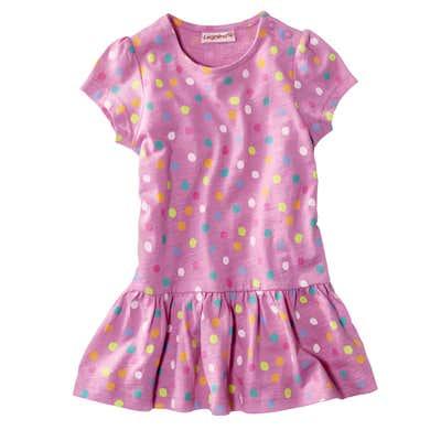 Baby-Mädchen-Kleid mit wunderschönem Punktemuster