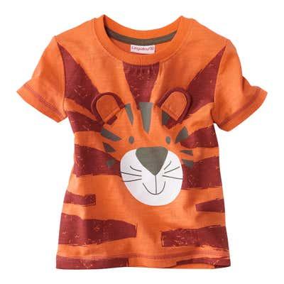 Baby-Jungen-T-Shirt mit aufgenähten Tigerohren