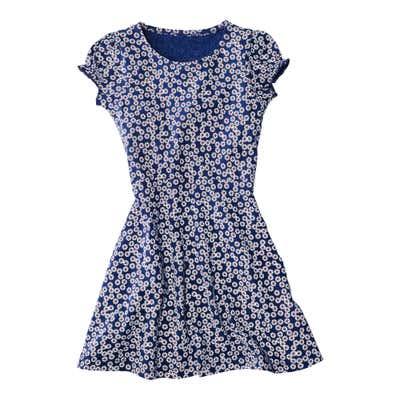Kinder-Mädchen-Kleid mit traumhaftem Blumenmuster