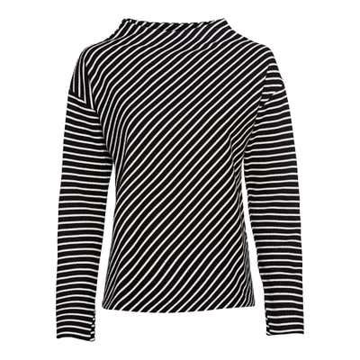 Damen-Sweatshirt mit originellem Streifenmuster