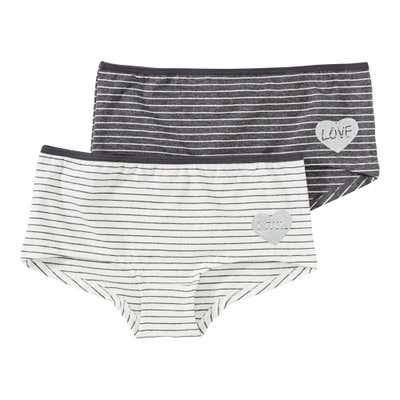 Mädchen-Panty mit Glitzer-Herz, 2er Pack