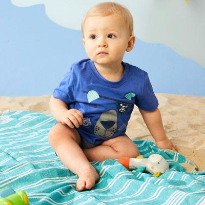 Baby-Jungen-T-Shirt mit Piraten-Motiv, 2er-Pack