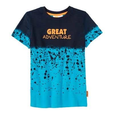 Jungen-T-Shirt mit Kontrast-Design