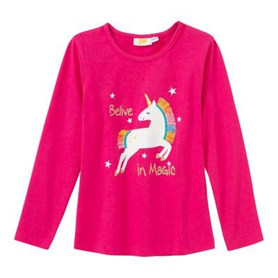 Mädchen-Shirt mit glitzerndem Einhorn-Motiv