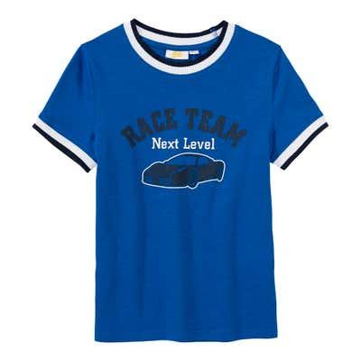 Jungen-T-Shirt mit Kontrast-Streifen