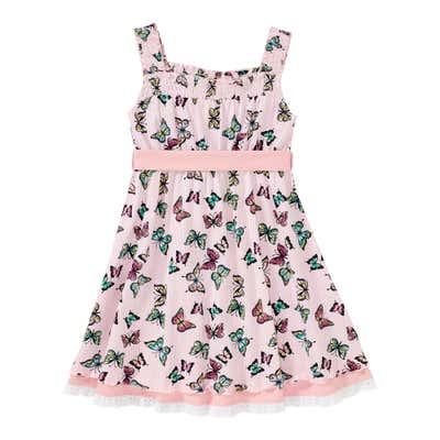 Mädchen-Kleid mit Schmetterlings-Muster