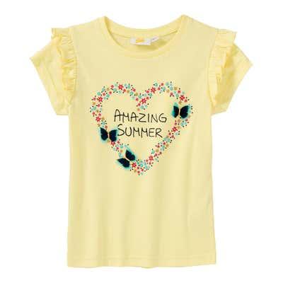 Mädchen-T-Shirt mit Blümchen-Herz