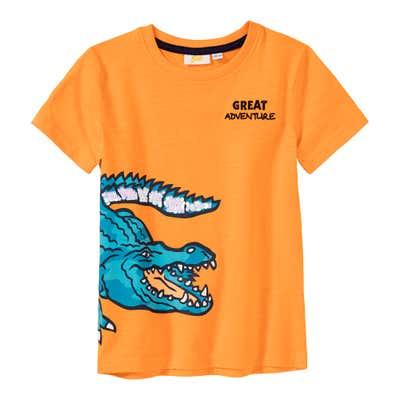Jungen-T-Shirt mit Krokodil-Aufdruck