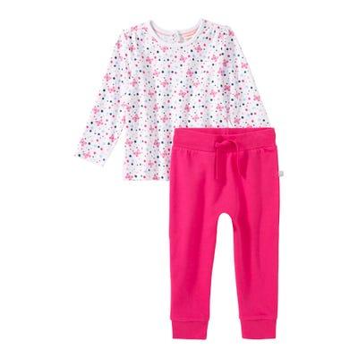 Baby-Mädchen-Set mit hübschem Muster, 2-teilig