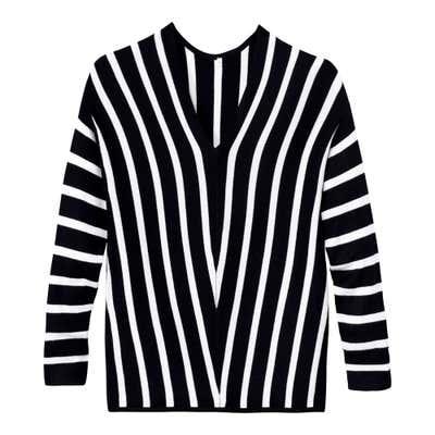 Damen-Pullover mit trendigem V-Ausschnitt
