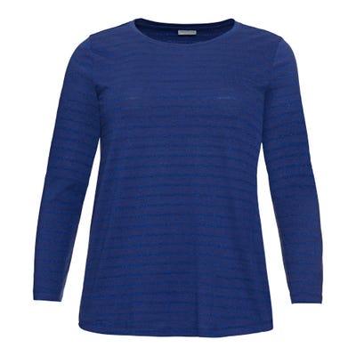 Damen-Shirt mit Glitzerstreifen, große Größen