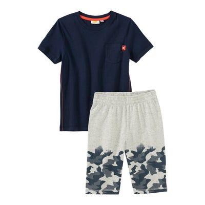 Jungen-Set mit Camouflage-Muster, 2-teilig