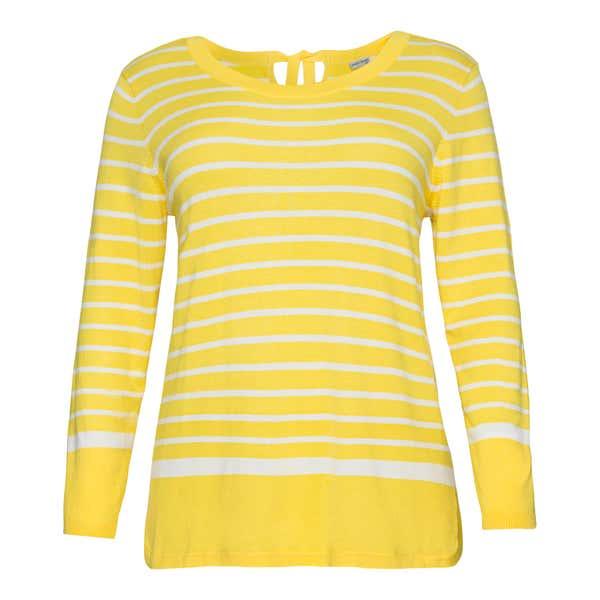 Damen-Pullover mit Streifenmuster, große Größen