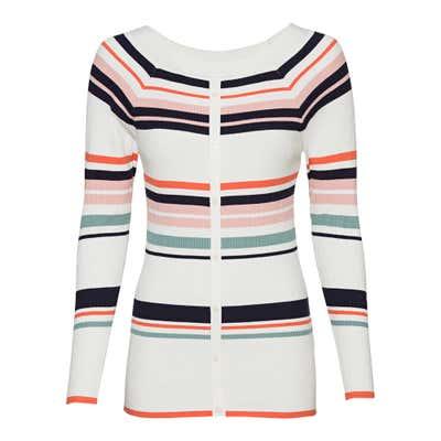 Damen-Pullover mit trendigen Streifen