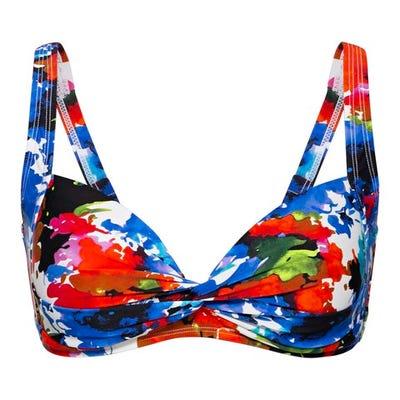 Damen-Bikini-Oberteil mit trendigem Muster