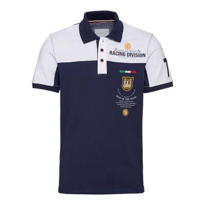 Herren-Poloshirt mit schicken Applikationen