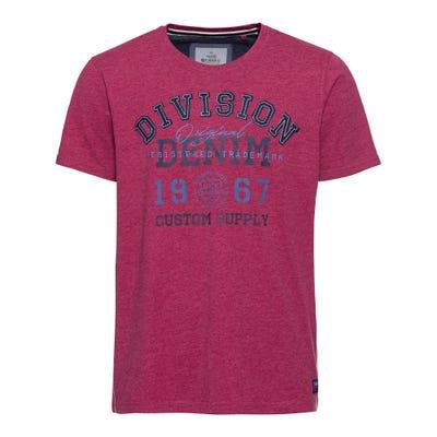 Herren-T-Shirt mit Kontrast-Nähten