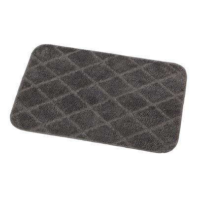 Badteppich mit Diamantmuster, ca. 50x80cm