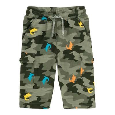 Jungen-Bermudas mit Camouflage-Muster