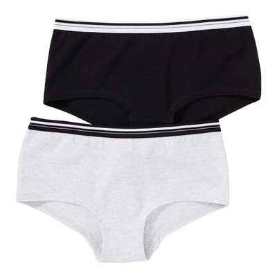 Mädchen-Panty mit Kontrast-Streifen, 2er Pack