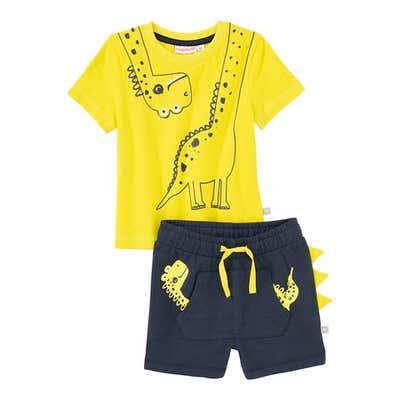 Baby-Jungen-Set mit Dino-Design, 2-teilig