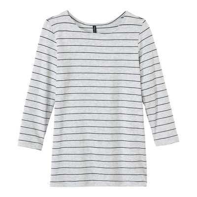 Damen-Shirt mit trendigen Querstreifen