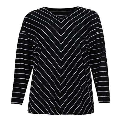 Damen-Shirt mit Streifendesign, große Größen