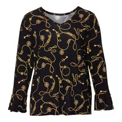 Damen-Shirt mit Ketten-Muster, große Größen