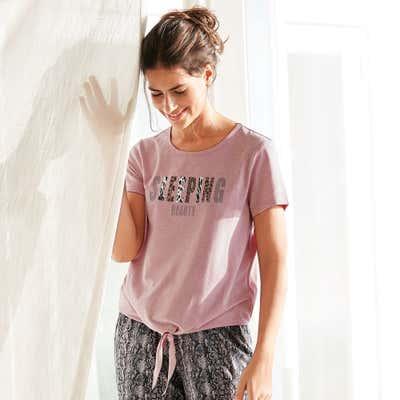 Damen-T-Shirt mit stylischem Knoten