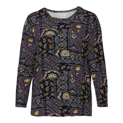 Damen-Shirt mit Paisley-Muster, große Größen