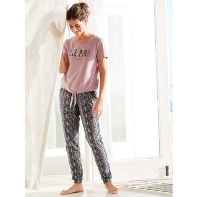 Damen-Hose mit stylischem Schlangendruck