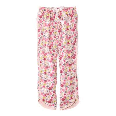 Damen-Schlafanzughose mit hübschem Blumenmuster